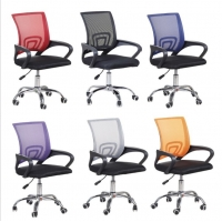 Office Swivel 92CM Black Mid Back Mesh Office Chair Manufactures
