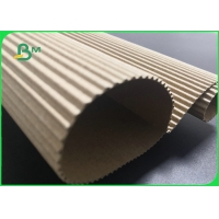 140gsm 170gsm Single Face E Flute Corrugated Board For Coffee Sleeves Manufactures