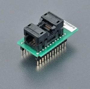 Original ELNEC 70-0913  DIL16W/TSSOP16 ZIF 170mil , Bottom 2x12 pins, square, 0.6x0.6mm, rows spacing 600MIL Manufactures