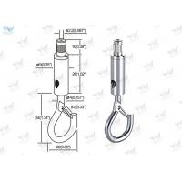 Lighting Products Aircraft Cable Fixture Hangers Self - Gripping Hook Safety Lock Manufactures