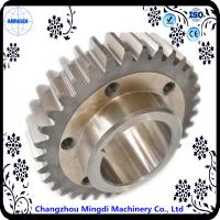 Fixed 1 - 22M Steel  Spur Gear Transmission Gear Parts With Spline Shaft Manufactures