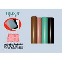 IC Stock Pack Polypropylene Sheet Roll Thermoforming Packaging , Pink Green Black Manufactures