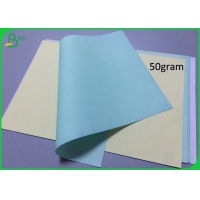 50Gram 55Gram Colored NCR Paper CFB Type Recycled For Printing Manufactures