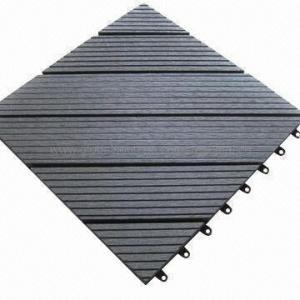 Garden Deck Tile for Outdoor Garden, with Wood Plastic Composite Material, DIY Tile, Water-resistant Manufactures