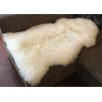China Real Long Merino Wool Fur Bed Throws Blankets With Custom Color / Size on sale