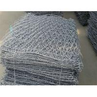 Heavily Galvanized Stone Cage Wire Mesh 80 X 100mm Aperture For Engineering Projects Manufactures