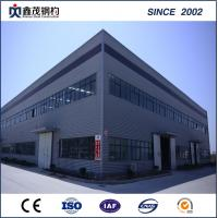 China Modular prefab steel structure factory workshop with H section Steel on sale