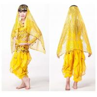 Breathable Belly Dance Practice Costumes Solid Chiffon Fabric Manufactures