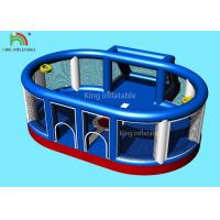 8.5 * 8 M Blue Inflatable Sport Games / Blow Up Football Field For Kids Manufactures