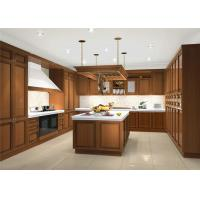 Apartment Solid Wood Kitchen Cabinets Traditional Design With Blum Soft Closing Hinges Manufactures