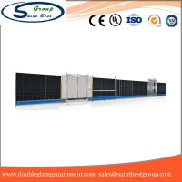 Curtain Wall Double Glazing Equipment , Insulated Glass Machine With Touch Screen Operation Manufactures