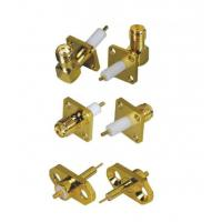 Quality Edge Mount SMA RF Connector Male Plug PCB Connector Brass Copper Gold Plated for sale