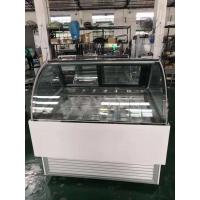Stable Operation Curved Popsicle Ice Cream Display Freezer Cabinet With 12 Pans Manufactures
