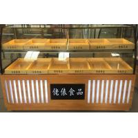 wooden shelves design cake display cabinet floor stand bread display stand bakery showcase Manufactures
