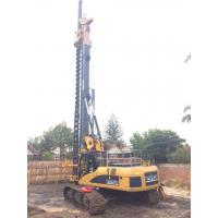 Crawler Rotary Piling Rig With ±5° Lateral Mast Inclination 79 M / Min Auxiliary Winch Line Speed