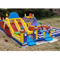 Buy cheap Outdoor Logo Printing 20mL Yellow Rocket Inflatable Amusement Park for Kids Use from wholesalers
