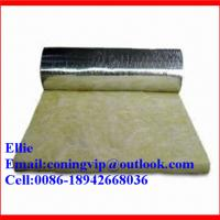 24kg/m3 glass wool insulation roll with Aluminum foil on one side Manufactures