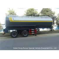 Dual Axle 32 Ton Tank Semi Trailer Single Point Suspension For Hydrofluoric Acid / HCL
