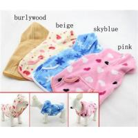 China Ladies Pet XXL , XXS puppy clothes Fleece Dog Hoodie Winter Coats for Chihuahua on sale