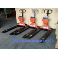China High Promotion 3 Ton Electric Scale Hand Operated Forklift , Pallet Pump Truck PTC20 on sale