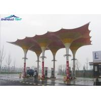 China Strong PVDF Tensile Roof Structures for Gas Station Colorful Design on sale