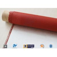 Single Sided Red Silicone Coating Fiberglass Cloth 50 Meters High Strength 100g Manufactures