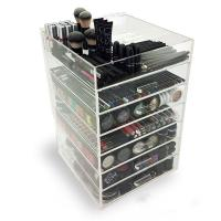 7 Tier Makeup Acrylic Display Box With Drawers For Shopping Mall Manufactures