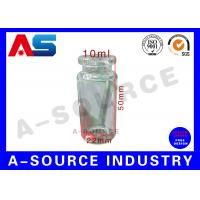 Cheap Tubular Miniature Glass Bottles Blue Amber Glass Bottles With Secure Rubber Lids for sale
