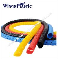 Hose Spiral Protective Wraps Making Machine / PE PP Hose Protector Extrusion Line Manufactures
