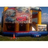 Cheap PVC Racing Car Inflatable Water Jumping Castle 5 x 5m Digital Printing With Slide for sale