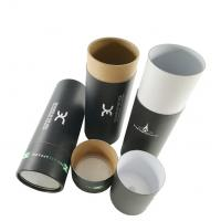 Round cardboard recycle cylinder kraft carton tube paper packaging tube boxes, paper tube with roll flat lid Manufactures