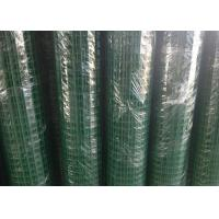 Green Hole PVC Wire Mesh Fence Panels Spot Welding For Highway / Warehouse Manufactures