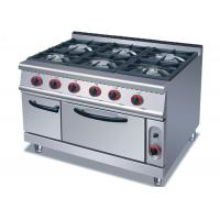 Cheap Security Cooking Lines Free Standing Gas Range With 3 / 4 / 6 European Burners for sale