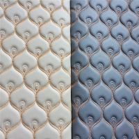 Furniture 0.6mm Pvc Artificial Leather Bonded With Sponge And Nonwoven Manufactures