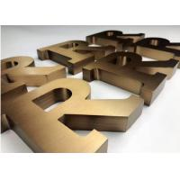 Non Illuminated Custom Metal Signs , Stainless Steel Acrylic Sign Letters Architectural Manufactures
