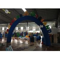 Custom Blue Oxford Durable Inflatable Arches for Event or Games Entrance Manufactures