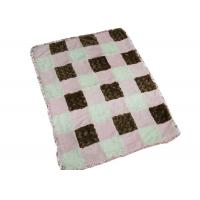 Square Pattern Baby Swaddle Blankets For Travel / Home Skin Friendly