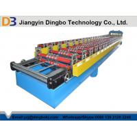 Corrugated Roofing Sheet Roll Forming Machine With Hydraulic Cutting Touch Screen Manufactures
