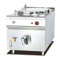 100 Liters 600mm Stainless Steel Gas Soup Kettle For Kitchen Manufactures