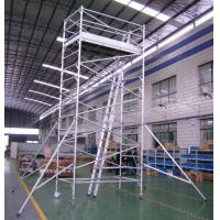 Cheap Painting Plastering Safety Adjustble Aluminium Mobile Scaffold / Mobile Scaffolding Tower for sale