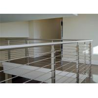 Mirror / Brushed Finish Building Railing Stainless Steel Rod Balustrade For Home Manufactures