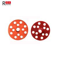 Red Thermal Insulating Foam Board Washers , Plastic Washers For Nails 50mm 60mm Manufactures