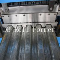 18.5kw Metal Decking Sheets Roll Forming Machine Used on High Buildings Manufactures