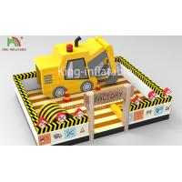 10 m x 8 m Yellow Inflatable Amusement Park Forklift Theme Jumper Bounce House For Kids Party Manufactures