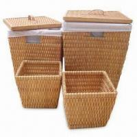 Basket, Made of Natural Wooden Chips, Available in Various Sizes, Colors and Shapes Manufactures