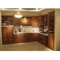 Marble stone Countertop Solid Wood Kitchen Furniture , White Closeout Kitchen Cabinets Manufactures