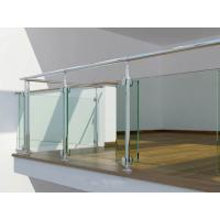 Tempered Glass Railing Systems , Railings With Glass Panels Manufactures