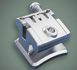 Dental Orthodontic Instruments Metal Self - Ligating Bracket Manufactures