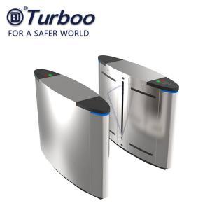 RFID Flap Barrier Turnstile Half Height Flap Barrier Gate Access Control Barrier Gate for Office Building 100-240V 35W Manufactures