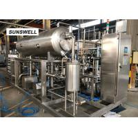 DN65 Material Outlet Diameter Carbonated Drink Bottling Machine For Beverage Factory Manufactures
